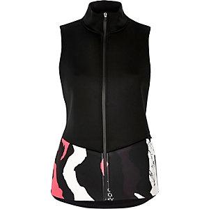 RI Active black print sports vest