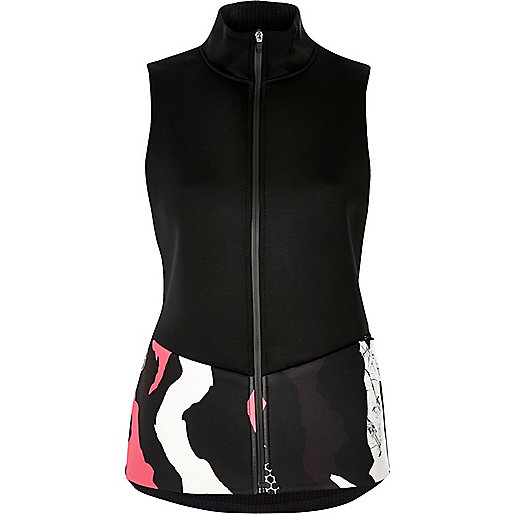 RI Active black print sports gilet