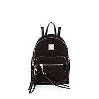 Black zipped mini backpack