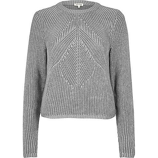 Silberner Pullover