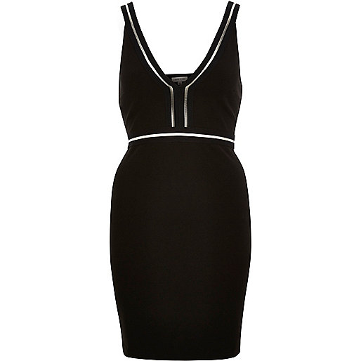 Black sporty mini dress