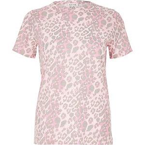 Pink animal print T-shirt