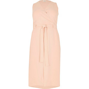RI Plus nude double layer dress