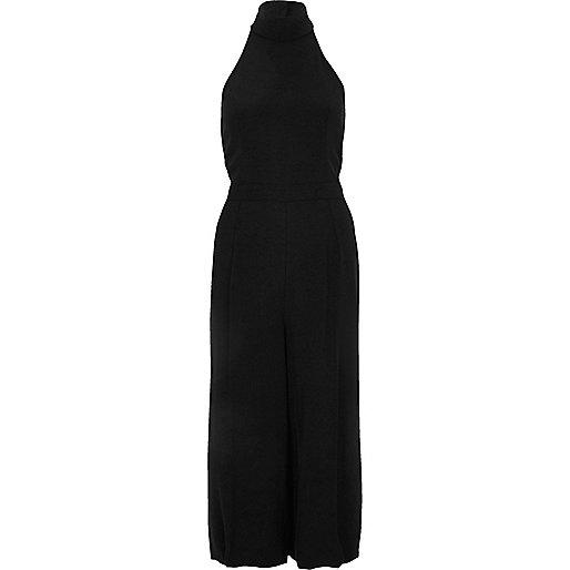 Black high neck jumpsuit