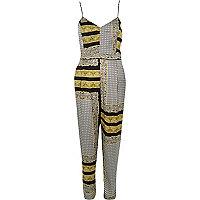 Black print jumpsuit