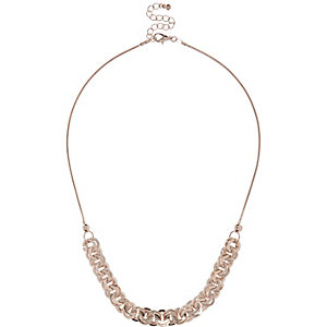Rose gold tone interlinking necklace
