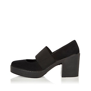 Black chunky Mary jane shoes