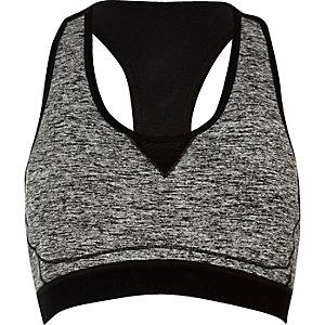 RI Active grey marl sports bra