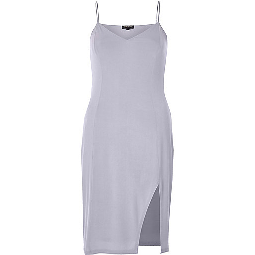 Light purple slinky cami mini dress