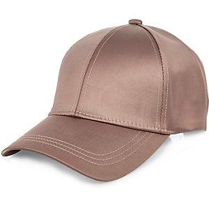 Pink satin cap
