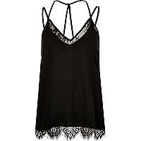 Black lace cami