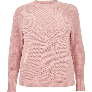 RI Plus pink stitch jumper