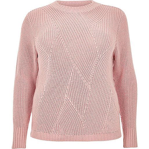 Plus pink stitch jumper