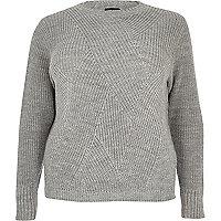 RI Plus silver stitch sweater