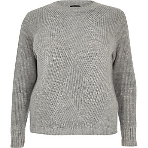 RI Plus silver stitch sweater