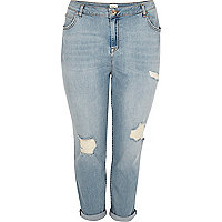 RI Plus – Ashley – Hellbraue Boyfriend-Jeans