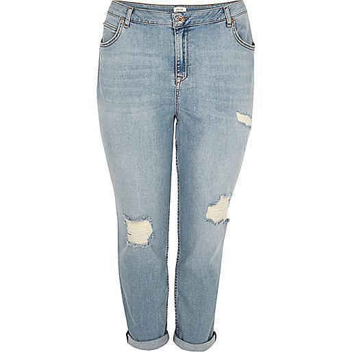 RI Plus light blue Ashley boyfriend jeans