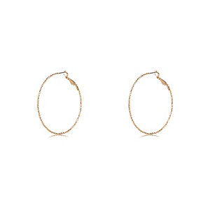 Gold tone delicate hoop earrings