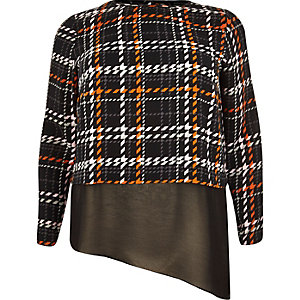 RI Plus black checked double layer top