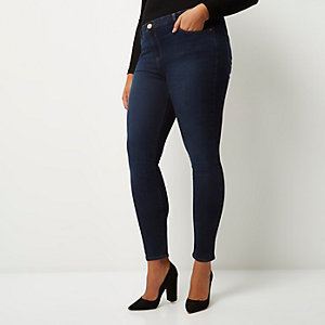RI Plus dark wash Amelie super skinny jeans
