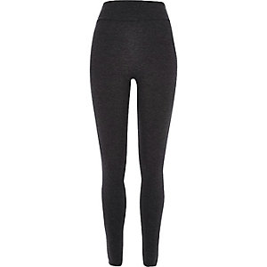 Dark grey high rise leggings