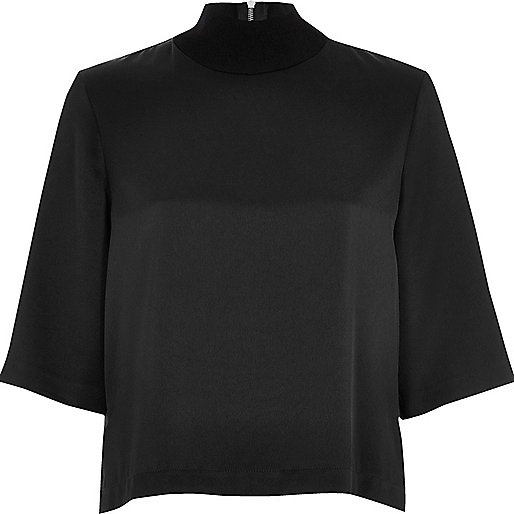 Black wide sleeve top