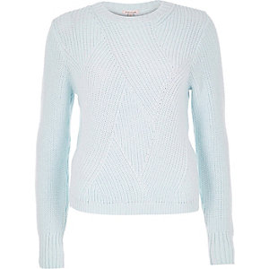 Light blue stitch sweater