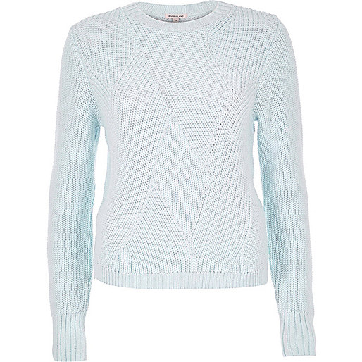 Light blue stitch jumper