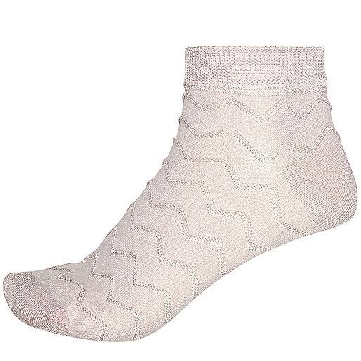 Pinke, strukturierte Sneakersocken