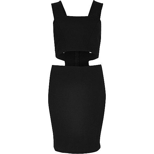 Schwarzes Kleid mit breiten Trägern