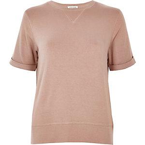 Pink sweat t-shirt