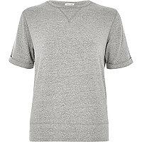 T-shirt gris en molleton