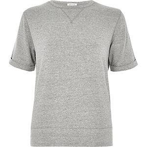 Grey sweat t-shirt