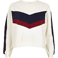 White block panel sweatshirt