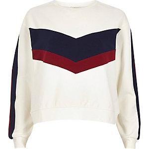 White block panel sweatshirt