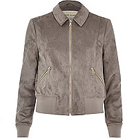 Light grey trucker jacket
