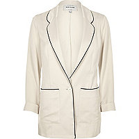 Cream satin pyjama jacket