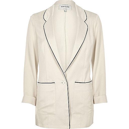 Cream satin pyjama jacket