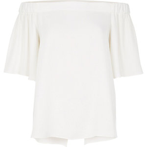 White bardot top