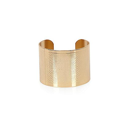 Yellow large cuff bracelet