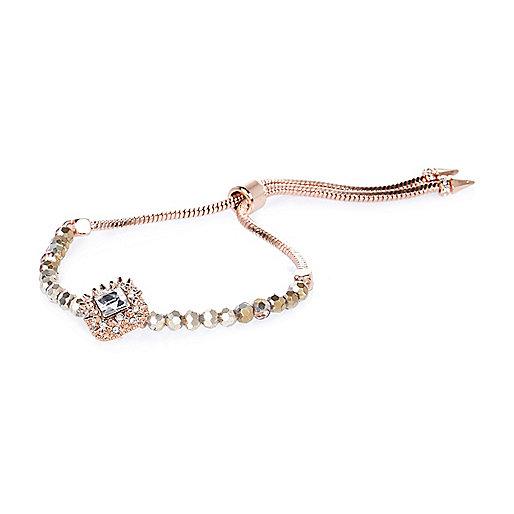 Rose gold tone diamanté bracelet