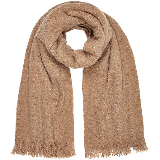 Light brown super soft scarf
