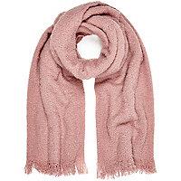 Light pink super soft scarf