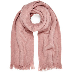 Light pink super soft scarf