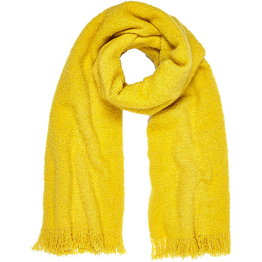 Yellow super soft scarf