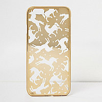 Gold unicorn iPhone 6 case