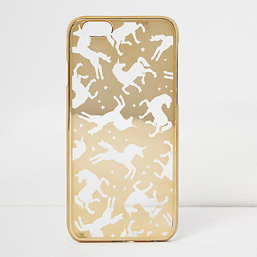 Gold foil unicorn iPhone 6 case