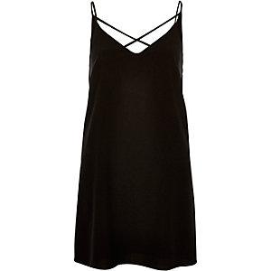 Black strappy dress