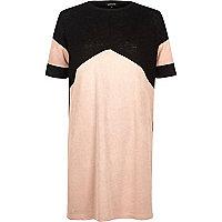 Light pink color block tunic