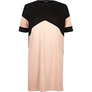 Light pink colour block tunic